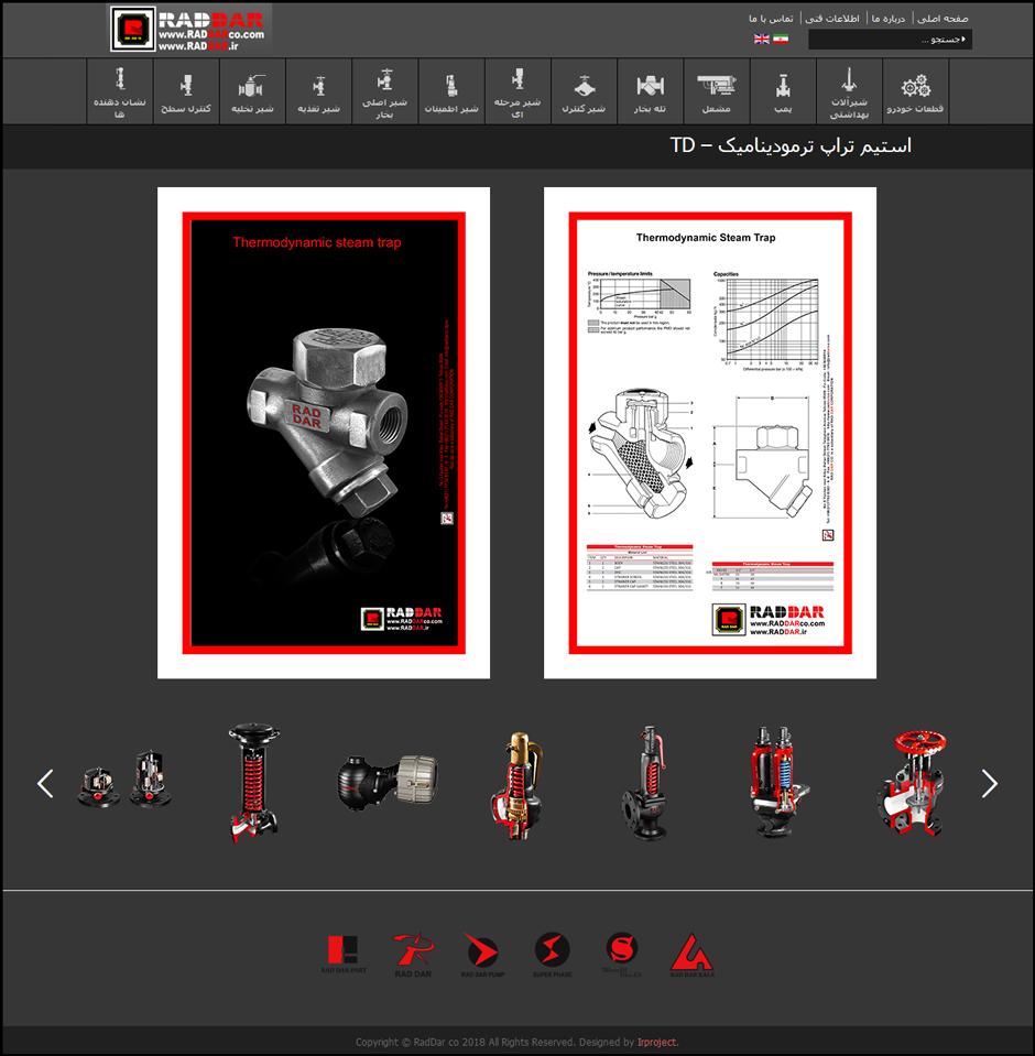 طراحی سایت شرکت راد دار