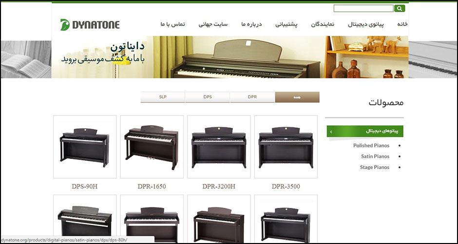 طراحی سایت دایناتون